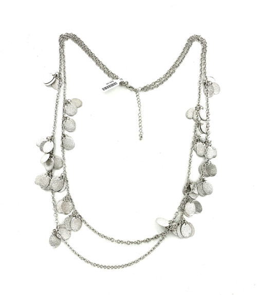 Silver Double Row Fishscale Necklace Wholesale