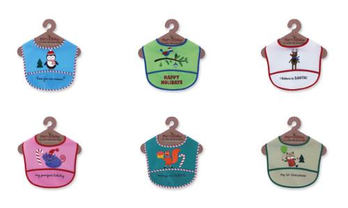 Wholesale EZ Wipe Holiday Baby Bibs