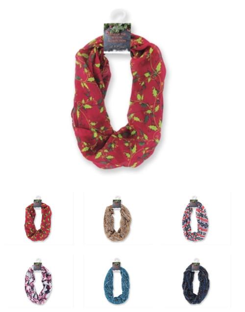 Wholesale Winter Theme Infinity Scarves
