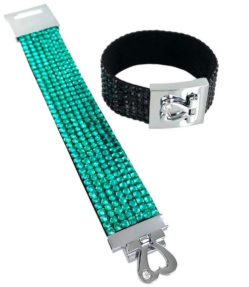Wholesale Crystallized Love Lock Bracelets