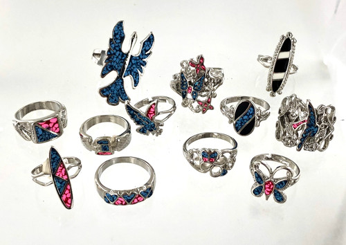 Assorted Turquoise Rings Wholesale