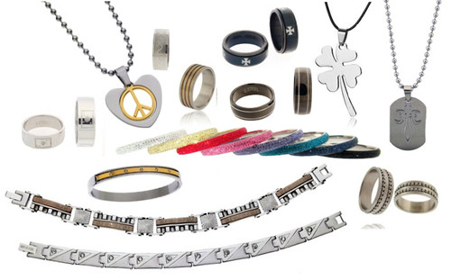 Closeout Stainless Steel Jewelry Lot - 50 Piece