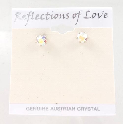 Closeout Crystal Aurora Borealis Stud Earrings