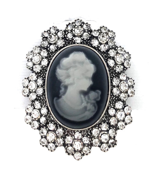 Wholesale Cameo Brooch with Crystals