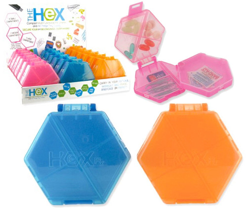 Wholesale Hexagon Pill Boxes