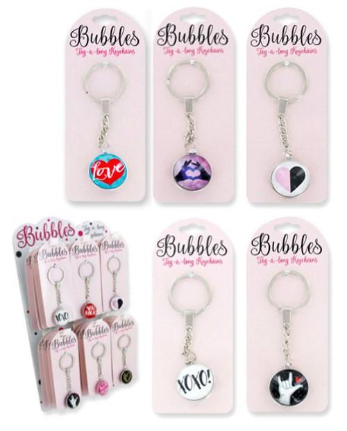 Wholesale Love Bubbles Keychains