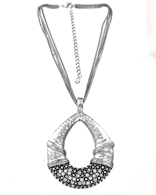 Wholesale Crystal Oval Necklace