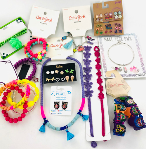 Kids Name Brand Jewelry Lot - 50 Piece