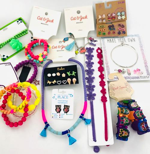 Kids Name Brand Jewelry Lot - 50 Piece