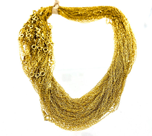 """Wholesale Open Link 18"""" Neck Chains - 100 per Pack"""