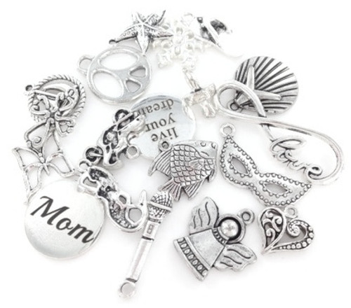 Charms by the Pound - 300 to 400 Pieces Assorted