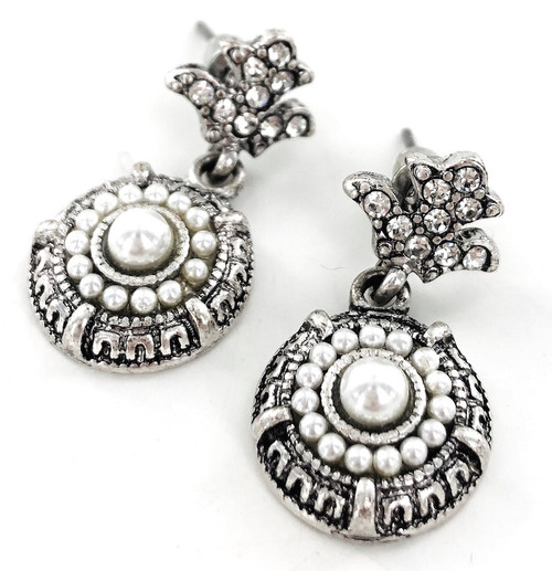 Wholesale Faux Pearl Deco Earrings