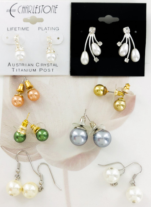 Wholesale Pearl Earrings by the Dozen