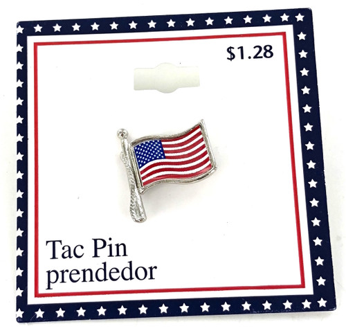 Closeout American Flag Tac Pins by the Dozen