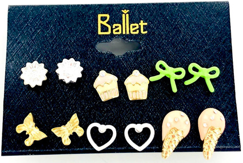 Wholesale 6 Pair Earring Collection