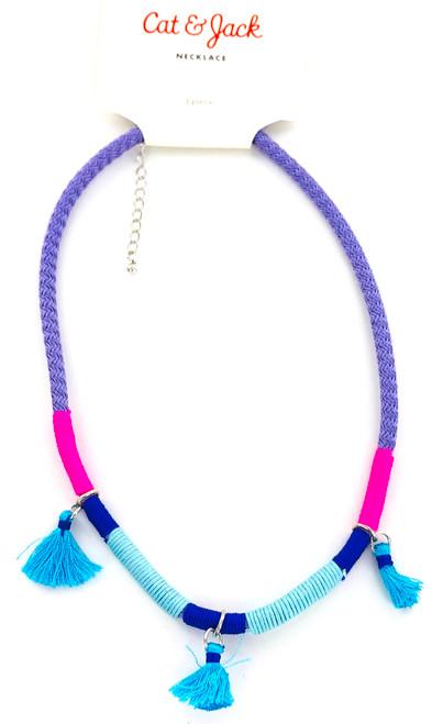 Wholesale Kids Neon Tassel Necklace
