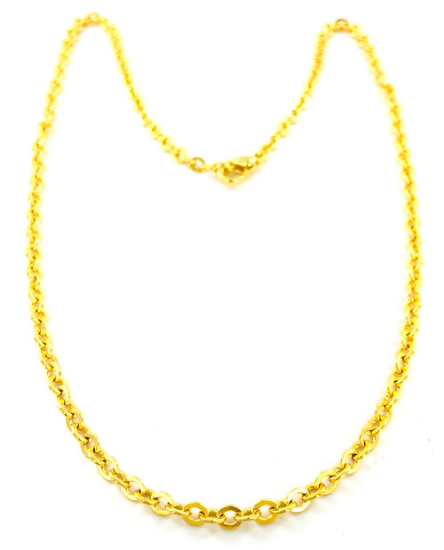 Wholesale Curb Chain by the Dozen - Gold Plated - 18 Inch