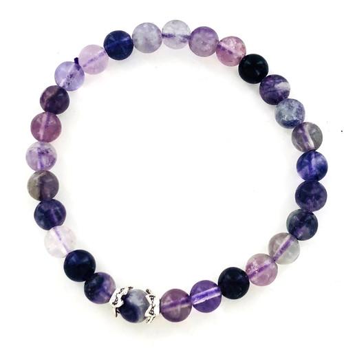 Purple Fluorite Stretch Bracelet at Wholesale