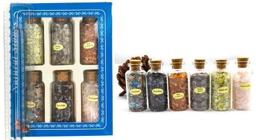 6 Per Pack Quartz Gemstones in Decorative Jars