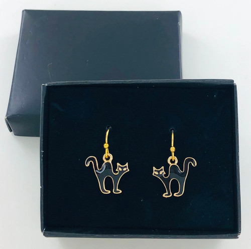 Wholesale Black Cat Earrings