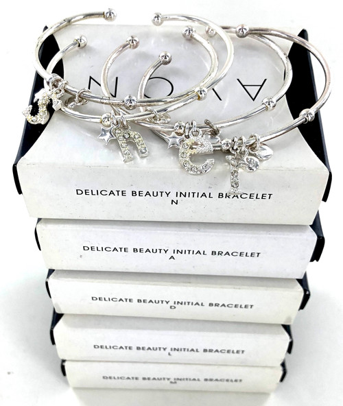 Avon Gift Boxed Initial Bangle Bracelets by the Dozen