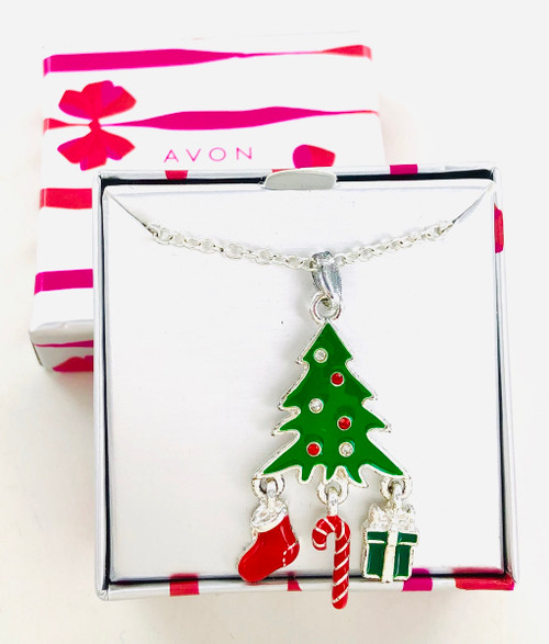 Avon Christmas Tree Seasonal Shakey Necklace Wholesale