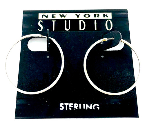 Sterling Silver Hoop Earring Closeout