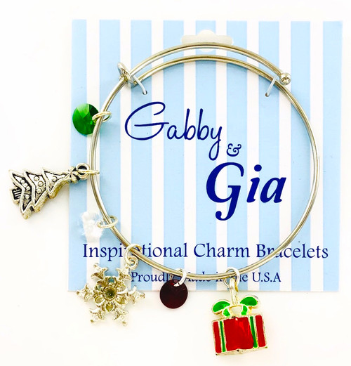 Limited Edition Gabby & Gia Christmas Tree Bracelets in Silver