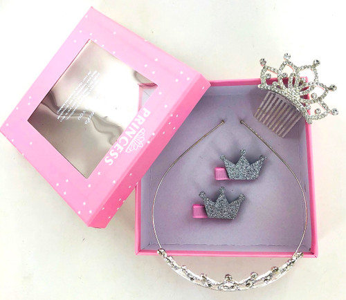 Wholesale Tiara Crown Gift Set - 5 Pieces