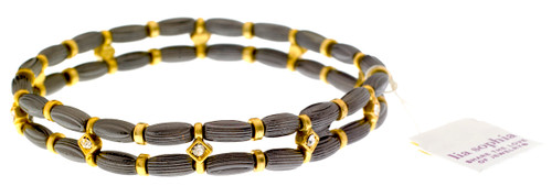 Wholesale Woodland Stretch Bracelet - Gold & Hematite