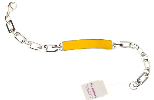 Wholesale Enamel ID Bracelet - Yellow