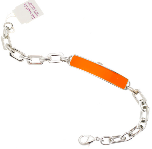 Wholesale Enamel ID Bracelet - Orange