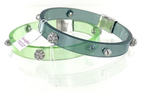 Wholesale Glazed Bangle Bracelet - Pistachio