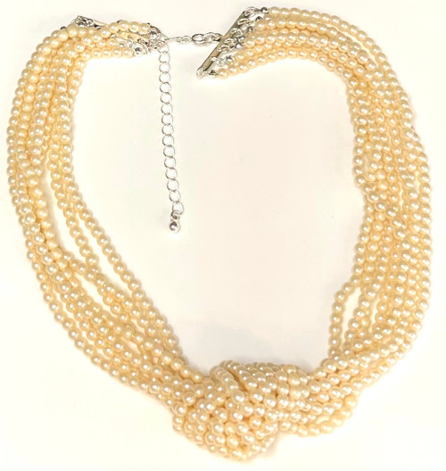Wholesale Knotted Pearl Multi Strand Necklace