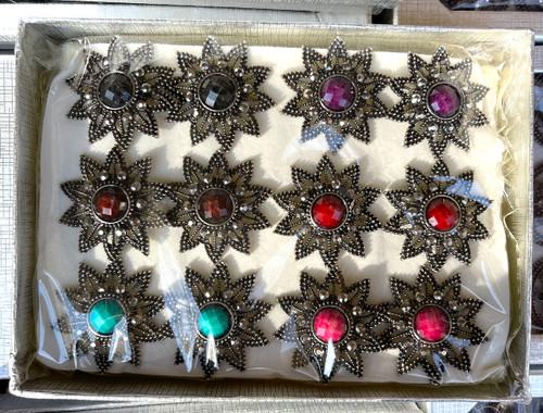 Wholesale Jewel Brights Rings by the Dozen - Star Flower