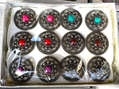 Wholesale Jewel Brights Rings by the Dozen -  Round