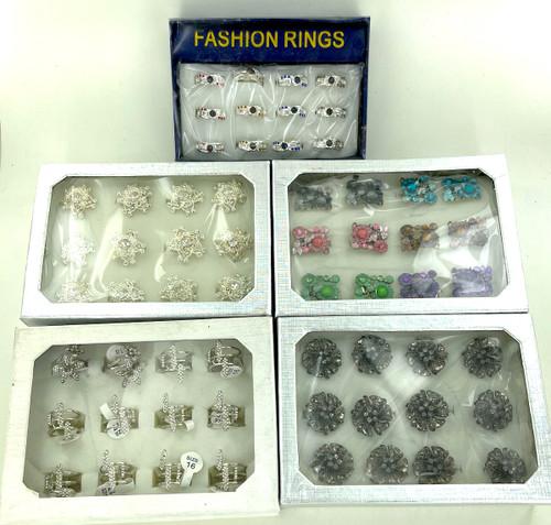 10 Dozen Assorted Fashion Rings - 120 Pieces