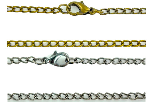 Wholesale Antiqued Chains by the Dozen - 2 Colors to Choose From
