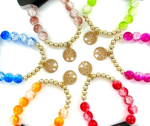 Wholesale Tree of Life Crackled Bracelets by the Dozen