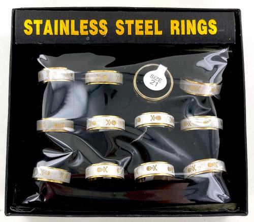 Wholesale Skull Stainless Steel Rings by the Dozen