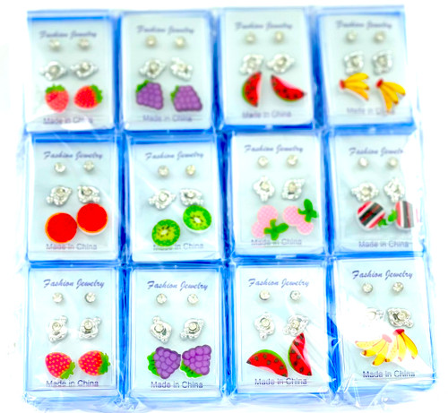 Wholesale Fruit Box Earrings by the Dozen