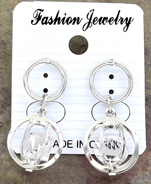 Wholesale Caged Crystal Dangle Earrings by the Dozen