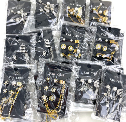 10 Dozen Wholesale Earring Cuffs - 120 Cards