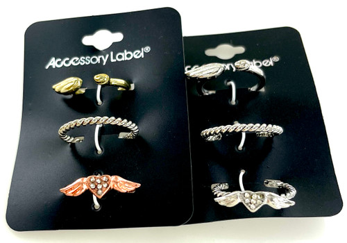 Wholesale Ring Trio by the Dozen - Wing