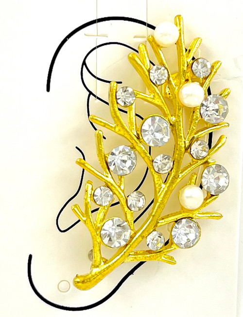 Wholesale Golden Branches Ear Cuffs by the Dozen