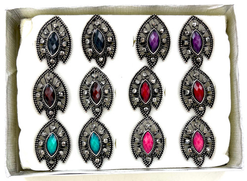 Wholesale Jewel Brights Rings by the Dozen - Arrow Head