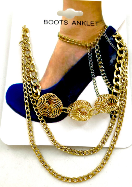 Wholesale Golden Swirl Boot Chains / Anklets by the Dozen