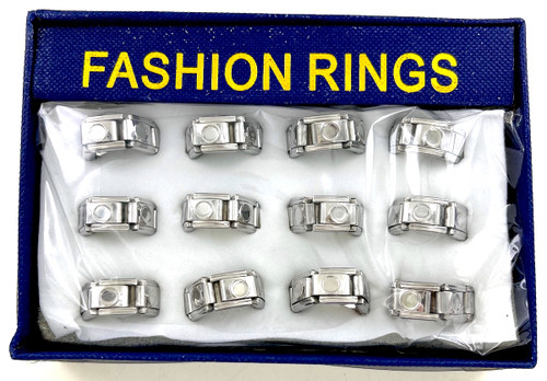 Wholesale Chainlink Stretch Rings by the Dozen