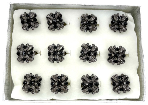 Wholesale Hematite Crystal Rings by the Dozen - Bows