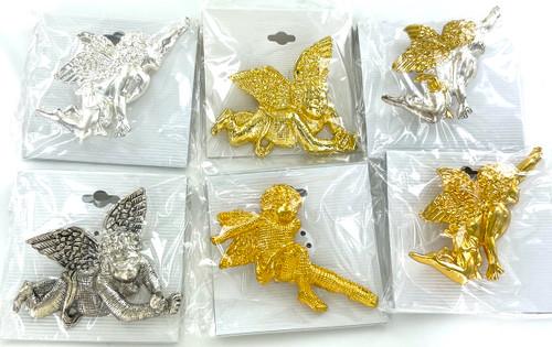 10 Dozen Assorted Cherub Angel Pins - 120 Pins!